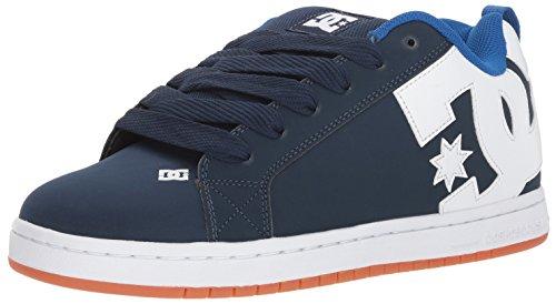 DC Men's Court Graffik Skate Shoe, Navy/Royal, 11 Medium US