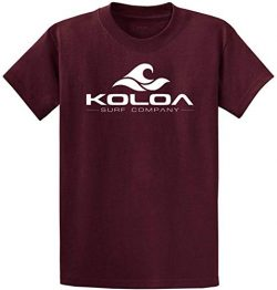 Koloa Surf Classic Wave Logo Cotton T-Shirt-Medium,Maroon/w