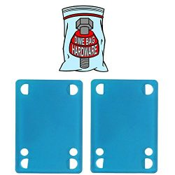Dime Bag Skateboard 1/8 in Riser Pads (Blue)