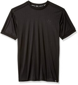 adidas Originals Men's Skateboarding Clima Club Jersey, Black/Black, L