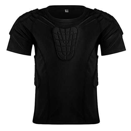 Children Impact Compression Padded Shirts Soccer Basketball Skateboarding Chest Protective Gear  ...