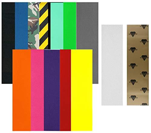 Black Diamond Longboard Griptape 10″ x 44″ (10″ x 44″ Black, Without App ...