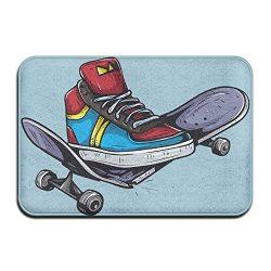 Door Floor Mat Area Rug Anti-Skid Foot Pad Skateboard Shoes Water Absorption Doormats For Home I ...