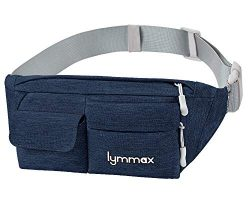 Lymmax Fanny Pack Slim Waist Bag Pack Waterproof Bum Bag Running Belt for Men Women Traveling Cy ...