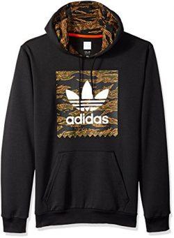 adidas Originals Men's Skateboarding Camo Blackbird Hoodie, Black/Camo Print/Collegiate Or ...