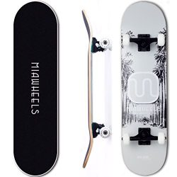MIAWHEELS XS200 (Gray/Black) – Xtreme Sport Skateboard- Handmade -100% 7PLY Canadian Maple ...