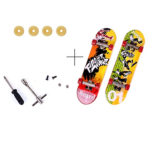 SkyCooool Professional Mini DIY Assemblable Finger Skateboard Toy Craft Kit with Accessories Too ...