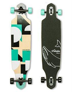 VOLADOR 40inch Maple Longboard – Basic Cruiser (Turquoise)