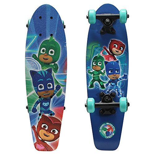 PlayWheels PJ Masks 21″ Wood Cruiser Skateboard, Power