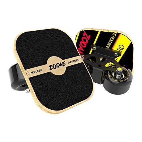 Zodae Portable Roller Road Drift Skates Plate with Cool Maple Deck Anti-Slip Board Split Skatebo ...